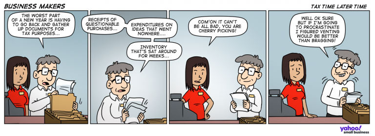 Business Makers Comic - Tax TIme