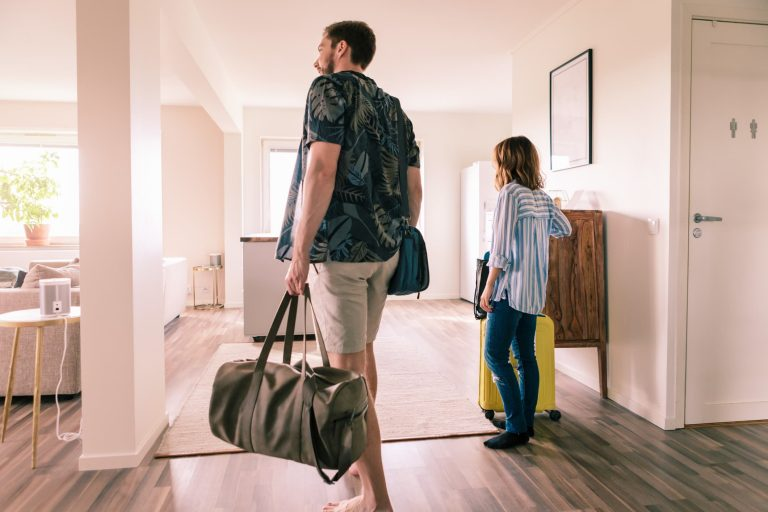 New owners moving into their new home
