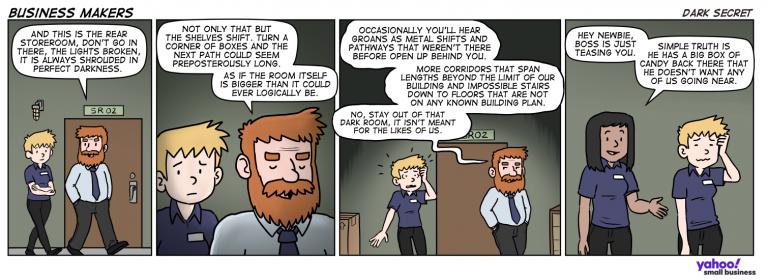 Business Makers Comic Strip – Dark Secret