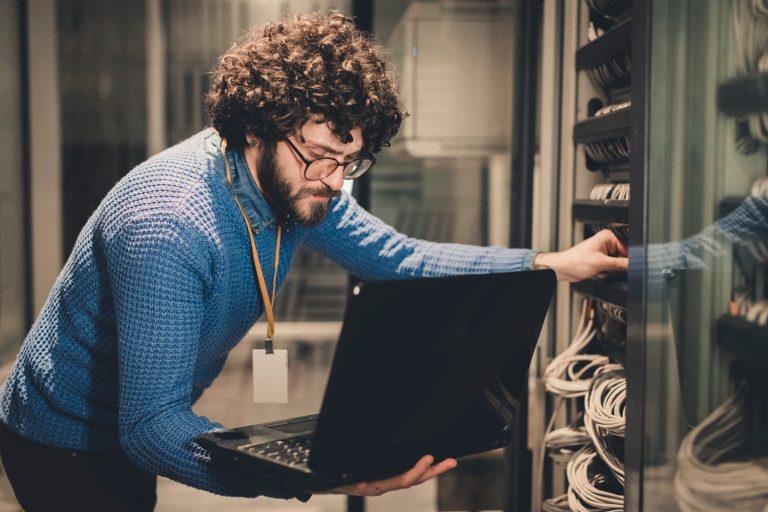 Server room for data backup