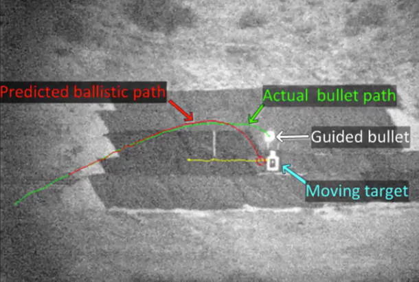 These Bullets Can Change Direction to Hit a Moving Target
