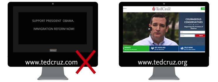 Presidential Candidate Fails: Domain Name Lessons for Brand Marketers