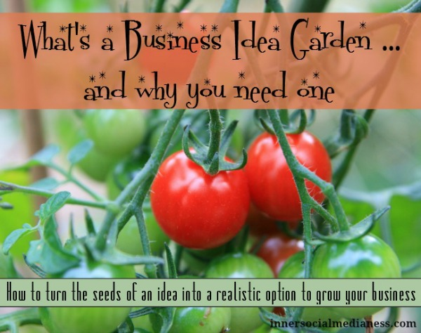 What a Business Idea Garden Is … and Why You Need One