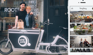 Crowdsourced bicycle courier service in Amsterdam