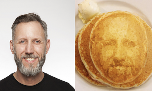 3D printer makes pancakes that look like diners' faces