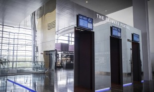 Travelers can experience their destination's weather at Swedish airport