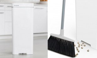 Smart trashcan hybrid vacuums up dirt