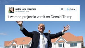 React: More Tweeters Want to Fight Donald Trump Than Vote For Him