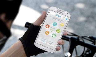 Eco-friendly app rewards cycling with green currency