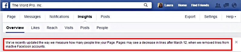 Facebook Purging Business Page Likes