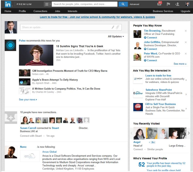 The Good, The Bad, And The Less Ugly New LinkedIn Homepage