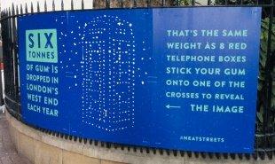 Interactive billboards stop London's litterers