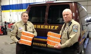 In Minneapolis, police distribute free healthy food packages