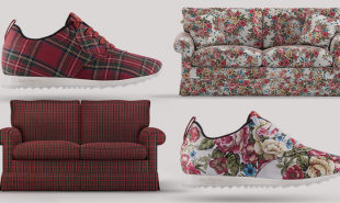 Water brand turns old couches into custom running shoes