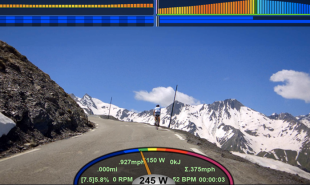 Virtual reality cycle videos let indoor cyclists race each other