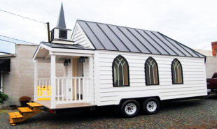 Mobile chapel is a tiny, affordable wedding venue