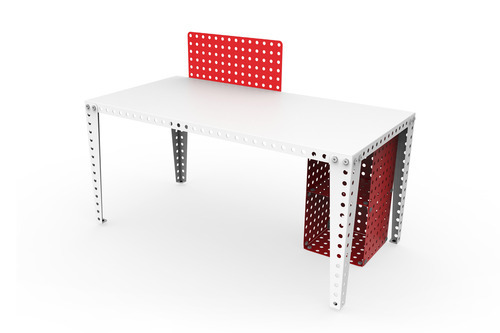 Reconfigurable furniture is made from Meccano pieces