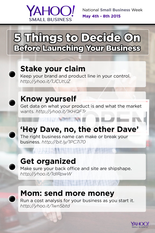 Five things to decide on before launching your small business