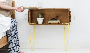 Snap-on table legs create unique furniture on any surface, in seconds