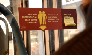 In Brazil, designated bus seating for friendly people