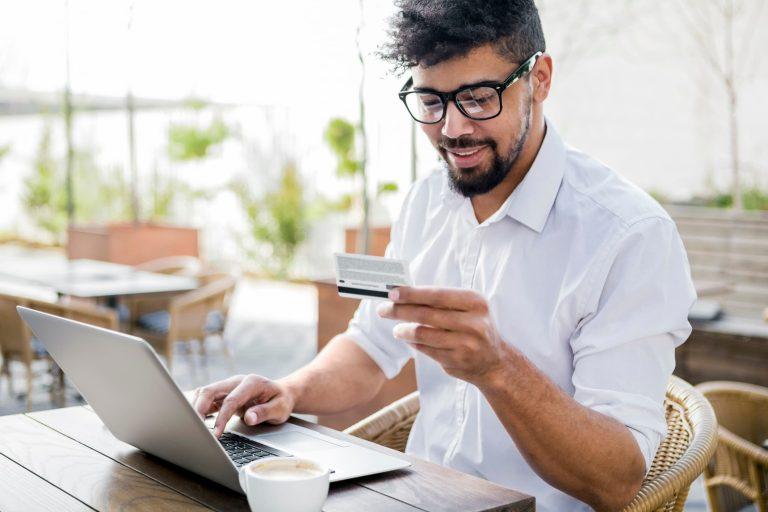 Customer purchasing online