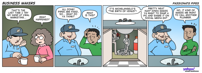 Comic showing some creative plumbing